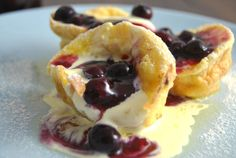Mini German Pancakes. A delicious, sweet or savoury way to use up excess eggs