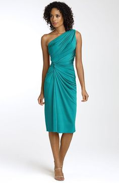 Teal-one-shoulder-asymmetric-knee-length-bridesmaid-dress.full