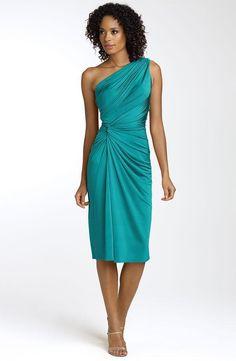 Teal-one-shoulder-asymmetric-knee-length-bridesmaid-dress.full