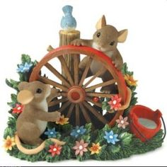 Charming Tails Gardening wheel- I must have for my collection!