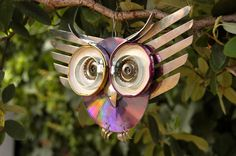 K loves owls I will have to make one for the orange trees out back