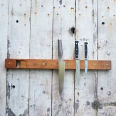 Antique Organ Pipe Knife Rack By Peg And Awl