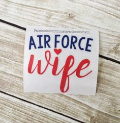 Air Force Decal, Milspo, Decal, Air Force decal, Monogrammed, Monogram, Personalized, USAF Wife, Proud AF Wife, Proud Air Force Wife by MonsterAndMunchkin on Etsy