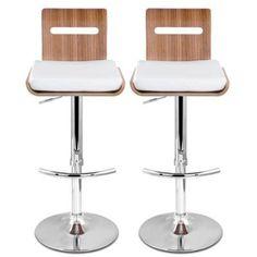 New Niomi Natural Wooden Kitchen Bar Stools (2 Sets)