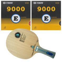 Pro Table Tennis Combo Paddle Racket: RITC729 C 3 Blade Long Shakehand FL with 2x Galaxy YINHE 9000E Rubbers|Table Tennis Rackets| - AliExpress