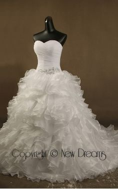 abito da sposa V5173-wedding dress ball Gown style v5173 Made of organza