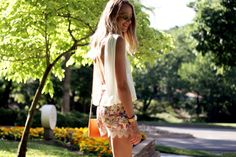 FLORAL & LACE SHORTS, OPEN BACK TOP, GIGI NEW YORK MAGGIE CROSS BODY