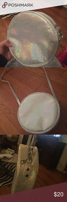 Hologram Circular Moon Crossbody Bag Reminds me of a full moon! Brand new - never used. H&M Bags Crossbody Bags