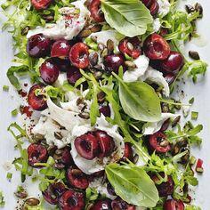 Cherry, mozzarella and rocket salad, a delicious recipe in the new M&S app. Mozzarella Salad, Caprese Salad, Cobb Salad, Healthy Salads, Healthy Eating, Healthy Recipes, Holiday Recipes, Great Recipes, Rocket Salad