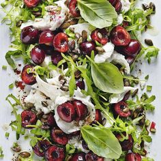 CHERRY, MOZZARELLA AND ROCKET SALAD, a delicious recipe from the new M&S app.