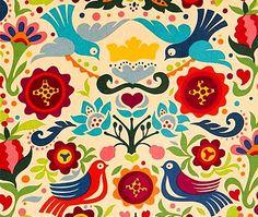 La Paloma Cotton Fabric by Alexander Henry