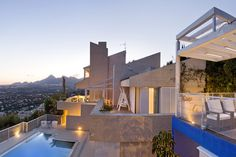 Spanish Hillside Villa  02/16/12  Location: Altea, Spain  This seven-bedroom home, overlooking the town of Altea on Spain's Costa Blanca, has extensive sunset views across the Mediterranean Sea. —Nick Clayton