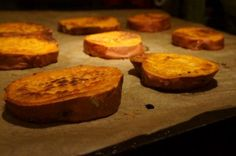 It's a week of good things. The first is this recipe for sweet potatoes: cut thick, lathered up with olive oil, and roasted in a hot oven until the outside begins to caramelize and the inside...