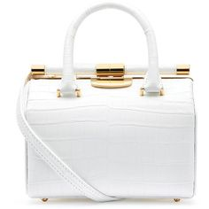 Tyler Alexandra Customizable Handbag (Made to Order) featuring polyvore fashion bags handbags white satchel backpack doctor bag white purse bucket bag satchel handbags