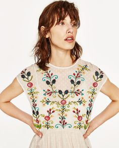 PLUMETIS EMBROIDERED DRESS-NEW IN-WOMAN | ZARA United States