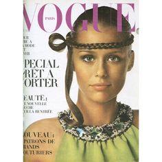 Lauren Hutton en couverture du numéro d'octobre 1968 de Vogue Paris, photographiée par Irving Penn