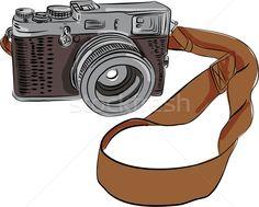 Stock fotó: Régi · fényképezőgép · rajz · izolált · rajz · stílus · illusztráció