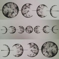 New ideas for tattoo moon cycle ink Music Tattoos, Girl Tattoos, Tatoos, Fases Da Lua Tattoo, Moon Cycle Tattoo, Tattoo Moon, Cresent Moon Tattoo, Cresent Moon Drawing, Arm Tattoo