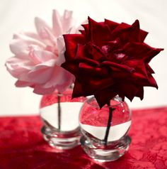 Recycled DIY Valentine vases from light bulbs and tea light candle holders. Really, these would be good anytime. Great idea, from Sunshine Journal.