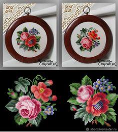 Mini Cross Stitch, Cross Stitch Heart, Cross Stitch Cards, Cross Stitch Alphabet, Cross Stitch Flowers, Cross Stitching, Cross Stitch Embroidery, Crochet Flower Patterns, Beading Patterns