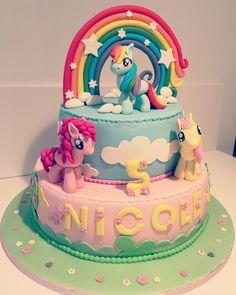 My little pony cake - Torte 2 - Birthday Cakes Girls Kids, My Little Pony Birthday Party, Cool Birthday Cakes, 4th Birthday, Birthday Ideas, Festa Rainbow Dash, Rainbow Dash Cake, Bolo My Little Pony, Anniversaire My Little Pony