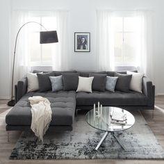 Ikea Living Room, Living Room Interior, Interior Room Decoration, Interior Design, Home Decor, Living Styles, Living Room Inspiration, Sofa Furniture, Apartment Living
