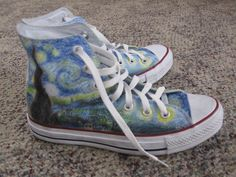 Starry Night Shoes (Converse brand). $110.00, via Etsy.