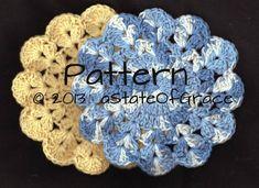 Dishcloth PATTERN 5 Washcloth Coaster Doily Hotpad | Etsy Crochet Gifts, Hand Crochet, Crochet Baby, Hand Knitting, Double Crochet, Single Crochet, Bridesmaid Gift Baskets, Pdf Patterns, Crochet Patterns