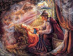 Sleeping beauty, by Josephine Wall