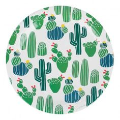 Pappteller Kaktus- 8er-Pack  Grün  My Little Day