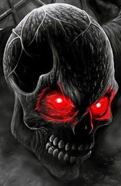 Free Skull phone wallpaper by Grim Reaper Art, Totenkopf Tattoos, Halloween Gif, Halloween Skull, Skull Pictures, Skull Artwork, Dark Artwork, Skull Wallpaper, Scary Wallpaper