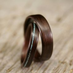 Wooden wedding bands. OhSoLovely