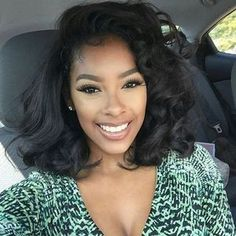 Wavy Wigs For African American Women The Same As The Hairstyle In The Picture - Wigs For Black Women - Lace Front Wigs, Human Hair Wigs, African American Wigs, Short Wigs, Bob Wigs Sew In Hairstyles, Straight Hairstyles, Black Hairstyles, Pretty Hairstyles, Teenage Hairstyles, Simple Hairstyles, Hairstyles 2016, Relaxed Hairstyles, Hairstyles Pictures