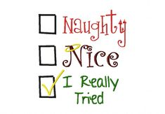 Naughty Nice I Really Tried Check Box Machine Embroidery Design | Daily Embroidery