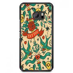 Tattoo Pattern HTC One M10 Case | Aneend.com