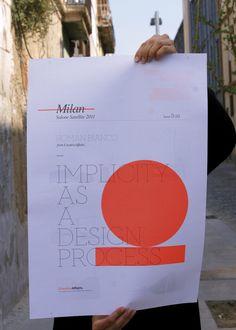Bronce Laus 2012 | Autopromoción |  Título: Cartel propocional para la exposición en el Salone Satellite 2011 de CreativeAffairs |  Autor: Francesco Cusumano / Laia Guarro (CreativeAffairs)