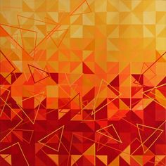 Akryl Trigo Num 18 #acryl #painting #triangles #geometric #abstract #modern #art
