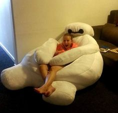Baymax bean bag chair (instructions linked here: http://m.imgur.com/a/dxnk0)
