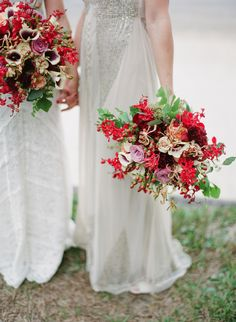 red and rose bouquet
