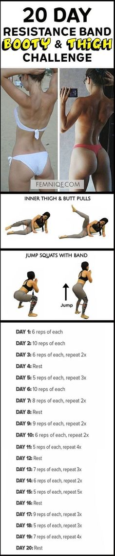 How To Get A Bigger Butt Workout Using Resistance Bands -Bigger Butt Workout at Home For Women - This uniqe and intense routine is one of the best exercise for butt and thighs. After a week you will start to see noticeable changes! (How To Get A Bigger Bu
