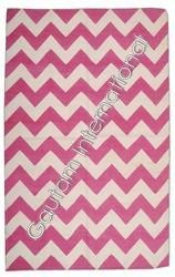 We are a trusted name in the industry for supplying and exporting Chevron Cotton Rugs, which are widely demanded for their impeccable designs. These rugs are made from high quality of fabric and are color retaining. They are easy to wash and maintain. Being a client centered organization, we offer these rugs in various sizes and shapes.