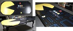 Erin McFadden, interior design, home decor, furniture, tables, games, nerd, geek, nostalgia, Pacman