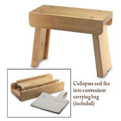 Collapsible Camp Bench  S-4055...Allen made me one of these, & I painted it with our arms