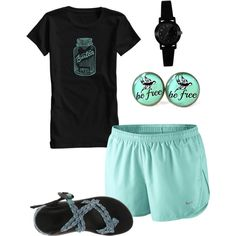 Teal by lauren-lowe-1 on Polyvore featuring polyvore, fashion, style, Burton, NIKE and Casio
