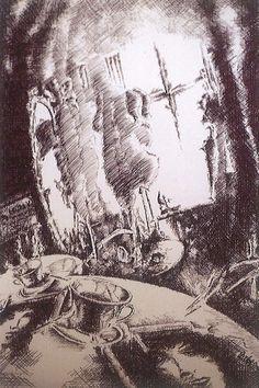 El conquense Carlos Martínez Martínez expone dibujos en Caja Castilla-La Mancha Mayo 1995 #CajaCastillaMancha #Cuenca #CarlosMartinezMartinez