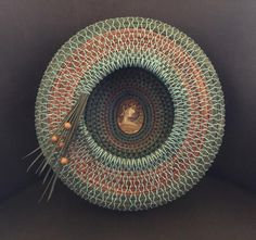 Beautiful basket from Lynda Bunnell. Bamboo Weaving, Willow Weaving, Weaving Art, Basket Weaving, Hand Weaving, Pine Needle Crafts, Linen Baskets, Rope Rug, Bountiful Baskets