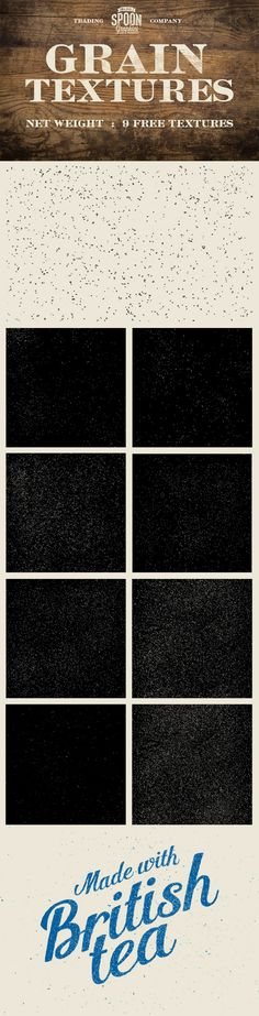 9 Free Grain Textures - JPG & PNG Files (17.3 MB) | spoongraphics.co.uk | #free #grain #texture