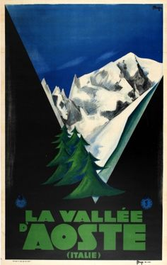 Valley of Aosta Maga ENIT, 1931 - original vintage poster listed on AntikBar.co.uk
