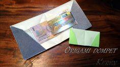 Cara membuat origami dompet kertas simple origami wallet square paper
