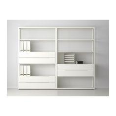 FJÄLKINGE Regal mit Schubladen, weiß weiß 236x193 cm
